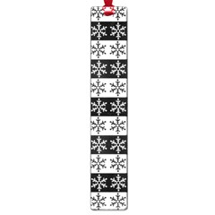 Snowflakes   Christmas Pattern Large Book Marks by Valentinaart