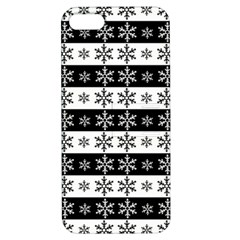 Snowflakes   Christmas Pattern Apple Iphone 5 Hardshell Case With Stand by Valentinaart