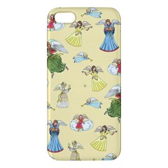Christmas Angels  Apple Iphone 5 Premium Hardshell Case by Valentinaart