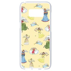 Christmas Angels  Samsung Galaxy S8 White Seamless Case by Valentinaart