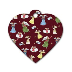 Christmas Angels  Dog Tag Heart (two Sides)