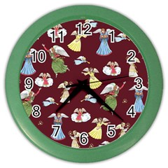 Christmas Angels  Color Wall Clocks by Valentinaart