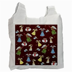 Christmas Angels  Recycle Bag (one Side) by Valentinaart