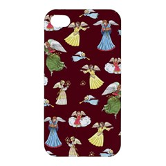 Christmas Angels  Apple Iphone 4/4s Premium Hardshell Case by Valentinaart