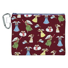 Christmas Angels  Canvas Cosmetic Bag (xxl) by Valentinaart