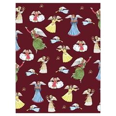 Christmas Angels  Drawstring Bag (large) by Valentinaart