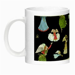 Christmas Angels  Night Luminous Mugs by Valentinaart