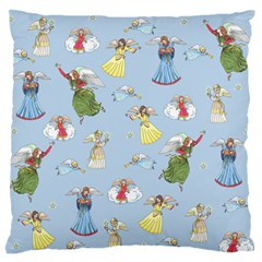 Christmas Angels  Large Flano Cushion Case (one Side) by Valentinaart