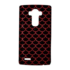 Scales1 Black Marble & Red Denim (r) Lg G4 Hardshell Case by trendistuff