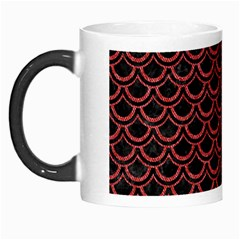 Scales2 Black Marble & Red Denim (r) Morph Mugs by trendistuff
