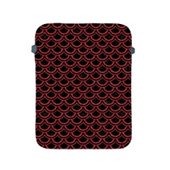 Scales2 Black Marble & Red Denim (r) Apple Ipad 2/3/4 Protective Soft Cases by trendistuff