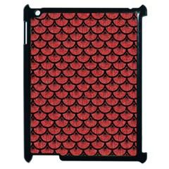 Scales3 Black Marble & Red Denim Apple Ipad 2 Case (black) by trendistuff