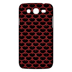 Scales3 Black Marble & Red Denim (r) Samsung Galaxy Mega 5 8 I9152 Hardshell Case