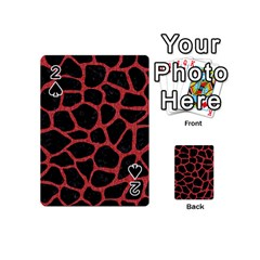 Skin1 Black Marble & Red Denim Playing Cards 54 (mini)  by trendistuff
