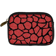 Skin1 Black Marble & Red Denim (r) Digital Camera Cases by trendistuff