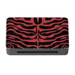 Skin2 Black Marble & Red Denim (r) Memory Card Reader With Cf by trendistuff