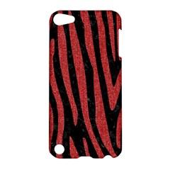 Skin4 Black Marble & Red Denim Apple Ipod Touch 5 Hardshell Case by trendistuff