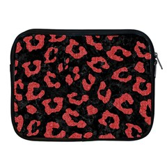 Skin5 Black Marble & Red Denim Apple Ipad 2/3/4 Zipper Cases by trendistuff