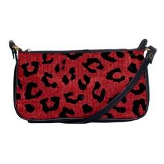 Skin5 Black Marble & Red Denim (r) Shoulder Clutch Bags by trendistuff