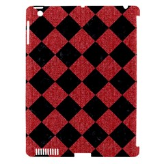 Square2 Black Marble & Red Denim Apple Ipad 3/4 Hardshell Case (compatible With Smart Cover) by trendistuff