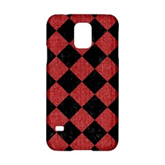 Square2 Black Marble & Red Denim Samsung Galaxy S5 Hardshell Case  by trendistuff