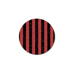 Stripes1 Black Marble & Red Denim Golf Ball Marker (4 Pack) by trendistuff
