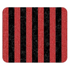 Stripes1 Black Marble & Red Denim Double Sided Flano Blanket (small)  by trendistuff