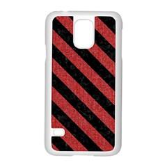 Stripes3 Black Marble & Red Denim Samsung Galaxy S5 Case (white) by trendistuff