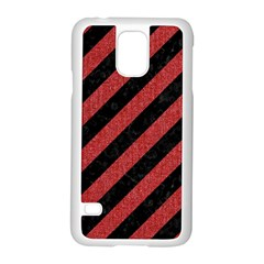 Stripes3 Black Marble & Red Denim (r) Samsung Galaxy S5 Case (white) by trendistuff