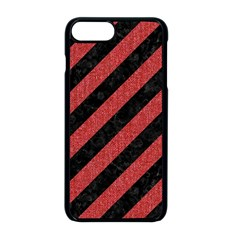 Stripes3 Black Marble & Red Denim (r) Apple Iphone 8 Plus Seamless Case (black) by trendistuff
