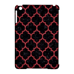 Tile1 Black Marble & Red Denim (r) Apple Ipad Mini Hardshell Case (compatible With Smart Cover) by trendistuff