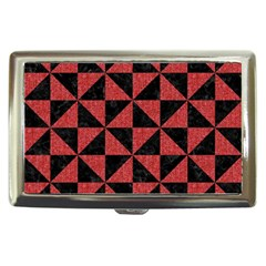 Triangle1 Black Marble & Red Denim Cigarette Money Cases by trendistuff