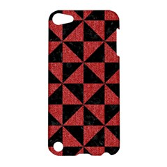 Triangle1 Black Marble & Red Denim Apple Ipod Touch 5 Hardshell Case by trendistuff