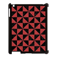 Triangle1 Black Marble & Red Denim Apple Ipad 3/4 Case (black) by trendistuff