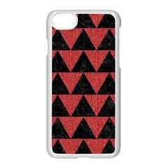 Triangle2 Black Marble & Red Denim Apple Iphone 7 Seamless Case (white) by trendistuff