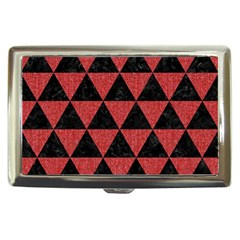 Triangle3 Black Marble & Red Denim Cigarette Money Cases by trendistuff