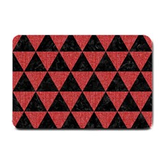 Triangle3 Black Marble & Red Denim Small Doormat