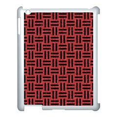 Woven1 Black Marble & Red Denim Apple Ipad 3/4 Case (white) by trendistuff
