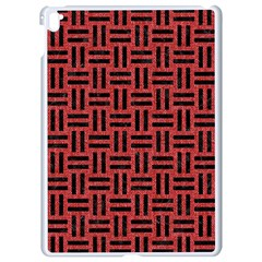 Woven1 Black Marble & Red Denim Apple Ipad Pro 9 7   White Seamless Case by trendistuff