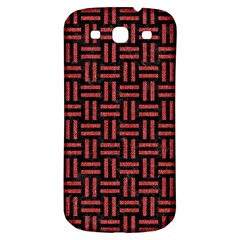 Woven1 Black Marble & Red Denim (r) Samsung Galaxy S3 S Iii Classic Hardshell Back Case by trendistuff
