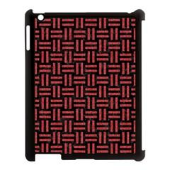 Woven1 Black Marble & Red Denim (r) Apple Ipad 3/4 Case (black) by trendistuff