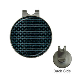 Brick1 Black Marble & Teal Brushed Metal (r) Hat Clips With Golf Markers by trendistuff