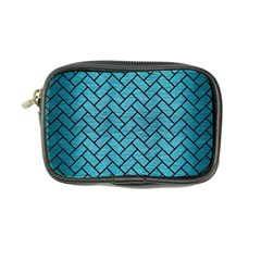 Brick2 Black Marble & Teal Brushed Metal Coin Purse by trendistuff