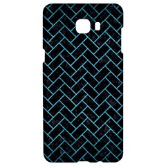 Brick2 Black Marble & Teal Brushed Metal (r) Samsung C9 Pro Hardshell Case  by trendistuff