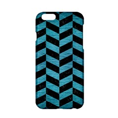 Chevron1 Black Marble & Teal Brushed Metal Apple Iphone 6/6s Hardshell Case by trendistuff