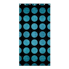 Circles1 Black Marble & Teal Brushed Metal (r) Shower Curtain 36  X 72  (stall)  by trendistuff