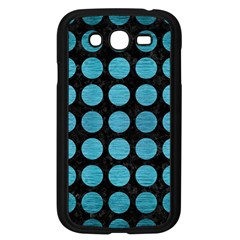 Circles1 Black Marble & Teal Brushed Metal (r) Samsung Galaxy Grand Duos I9082 Case (black) by trendistuff