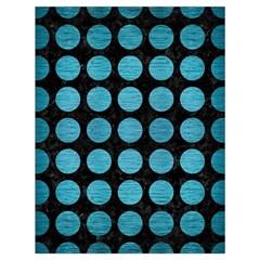 Circles1 Black Marble & Teal Brushed Metal (r) Drawstring Bag (large) by trendistuff
