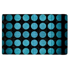 Circles1 Black Marble & Teal Brushed Metal (r) Apple Ipad Pro 12 9   Flip Case