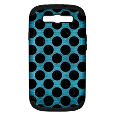 Circles2 Black Marble & Teal Brushed Metal Samsung Galaxy S Iii Hardshell Case (pc+silicone) by trendistuff
